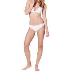 NWT Lululemon Will the Wave Bikini Bottom in White